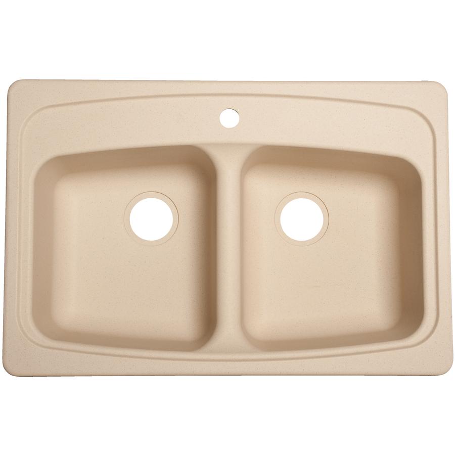 Shop Franke Usa Double Basin Drop In Granite Kitchen Sink