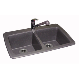 franke granite kitchen sinks shop franke usa 22 25 in x 33 75 in graphite basin 3522