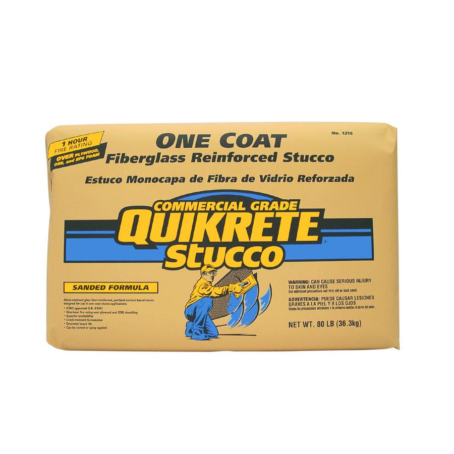 Shop Quikrete 80 Lbs 1 Coat Stucco Mix At Lowes Com