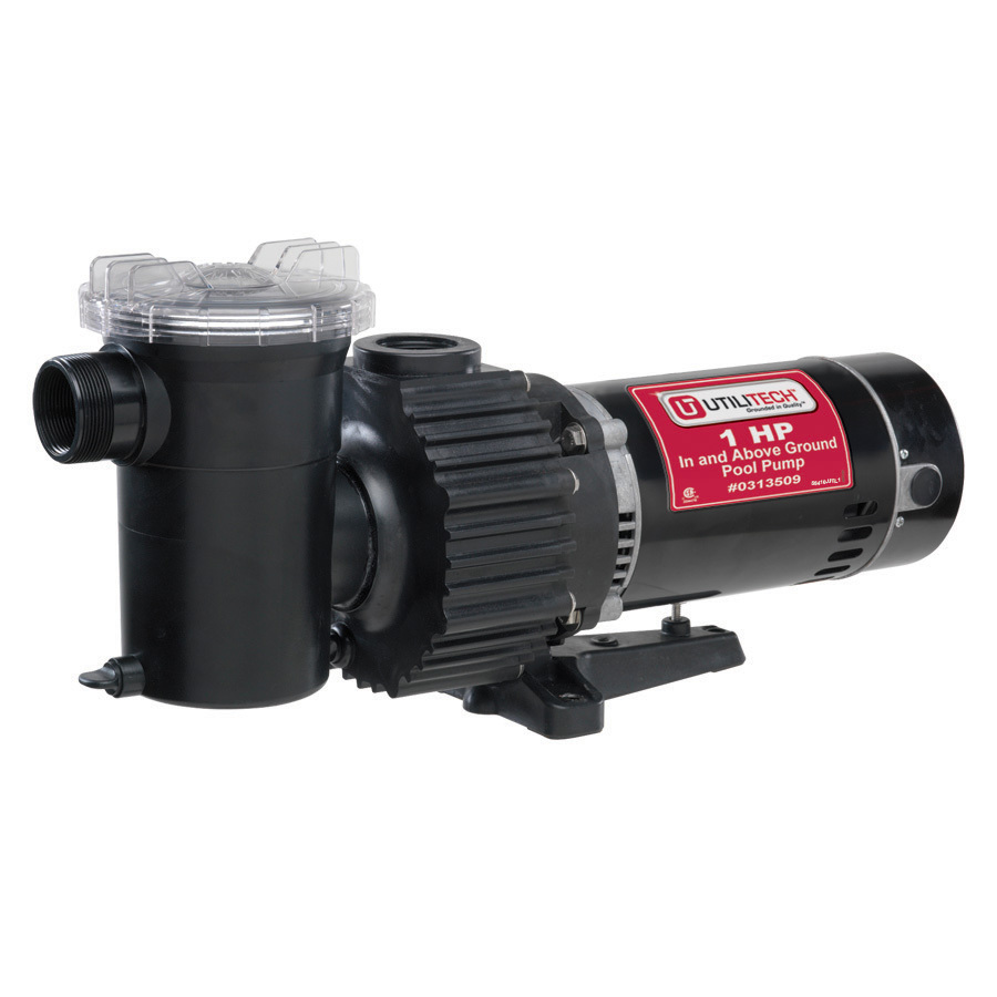 Shop Utilitech 1 Hp Cast Iron 92 Gpm Pool Pump At Lowes Com