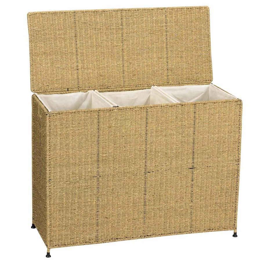Shop Household Essentials Wicker Basket or Clothes Hamper ...