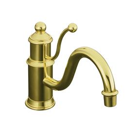 Kohler antique vibrant polished brass 1 handle low arc - Mico designs seashore kitchen faucet ...