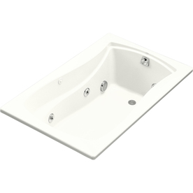 Kohler Mariposa 60-In White Acrylic Alcove Whirlpool Tub ...