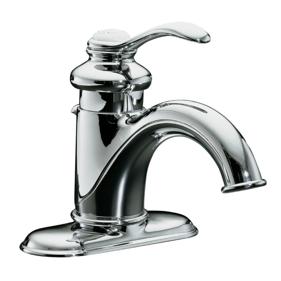 Chrome Bathroom Sink: Shop KOHLER Fairfax Polished Chrome 1-Handle 4-in