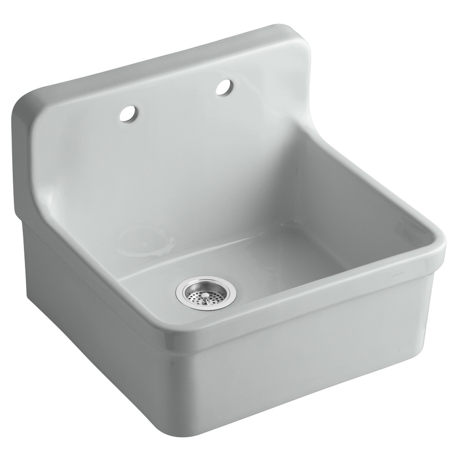 Shop Kohler Gilford 22 In X 24 In Ice Grey Single Basin