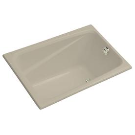 Kohler Greek 48-In Sandbar Acrylic Drop-In Bathtub With R...