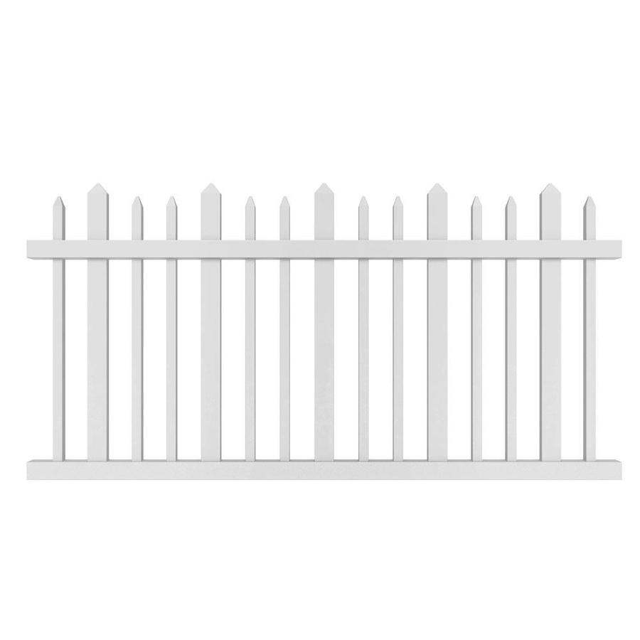 Shop Gatehouse Arborley White Stockade Picket Vinyl Fence