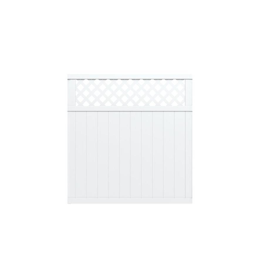 Shop Gatehouse Arborley White Lattice-Top Privacy Vinyl ...