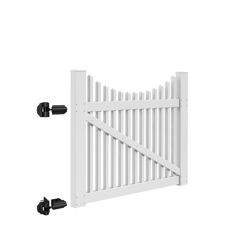 Shop Freedom Contractor Carlisle Scallop 4 Ft X 4 Ft White