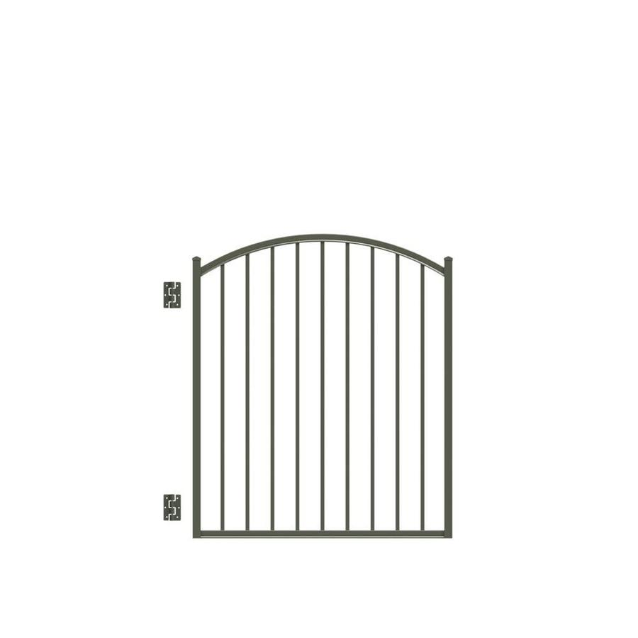 FREEDOM Pewter Aluminum Fence Gate (Common 48 in x 48 in