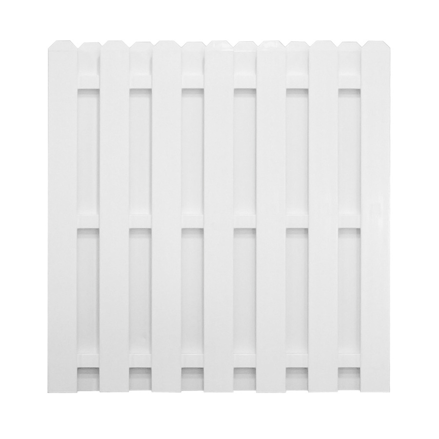 Shop Barrette Select White Shadowbox Privacy Vinyl Fence