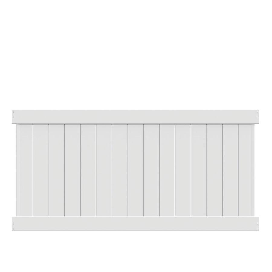Freedom Ready-to-Assemble Bolton 4-ft H x 8-ft W White Vinyl Flat-Top Vinyl Fence Panel | 73024636