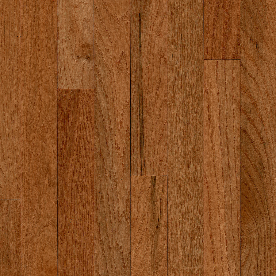 America's Best Choice 3-1/4-in Wide x 3/4-in Thick Gunstock Oak Smooth/Traditional Solid Hardwood Flooring (22-sq ft) in Brown | - Bruce ABC1401