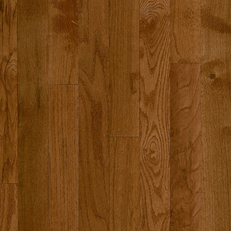 Frisco 3-1/4-in Wide x 3/4-in Thick Gunstock Oak Smooth/Traditional Solid Hardwood Flooring (22-sq ft) in Brown | - Bruce CB9321