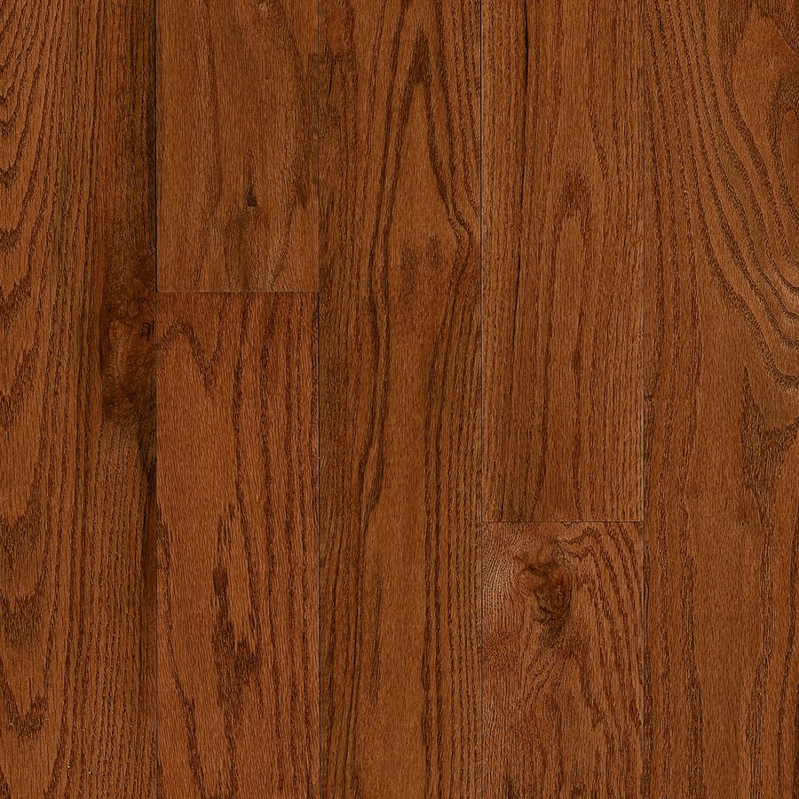 Frisco 5-in Wide x 3/4-in Thick Gunstock Oak Smooth/Traditional Solid Hardwood Flooring (23.5-sq ft) in Brown | - Bruce CB9521