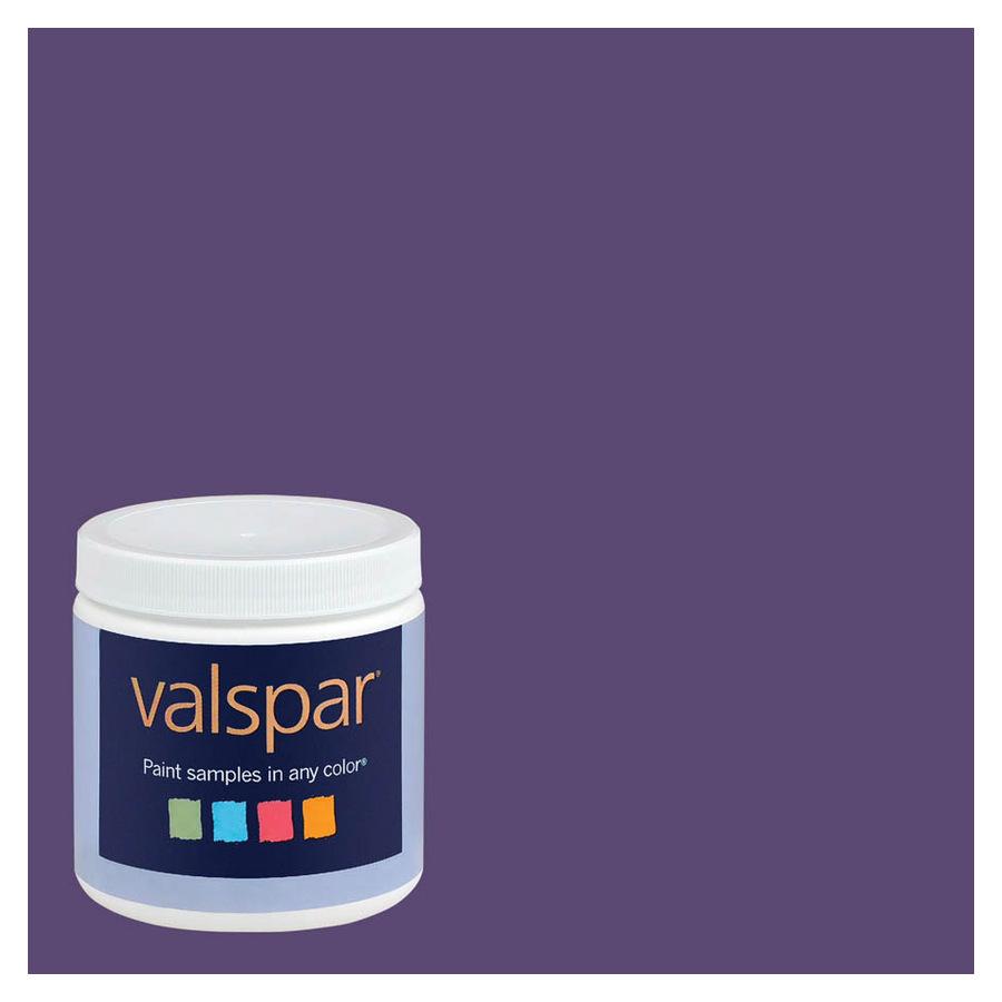 Purple Interior Paint: Shop Valspar 8-oz Sumptuous Purple Interior Satin Paint
