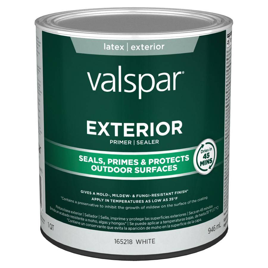 Shop valspar 1 quart exterior latex primer at - Exterior acrylic latex stain blocking primer ...