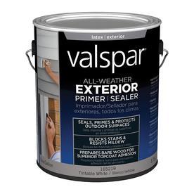 Shop Valspar 1 Gallon Exterior Latex Primer At Lowes Com