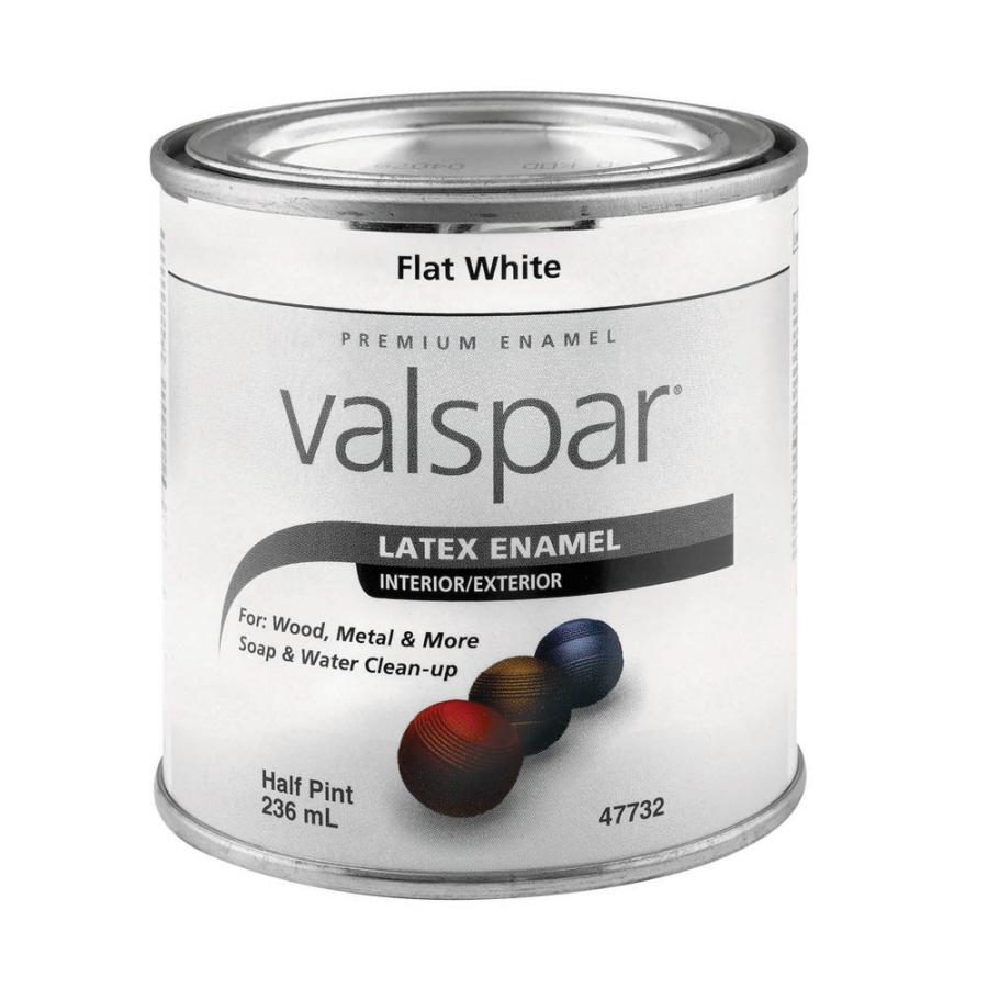 Shop valspar 0 5 pint interior exterior flat enamel flat - Valspar integrity exterior paint ...