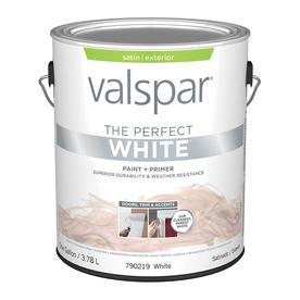 Valspar Perfect White Satin Latex Exterior Paint (Actual ...