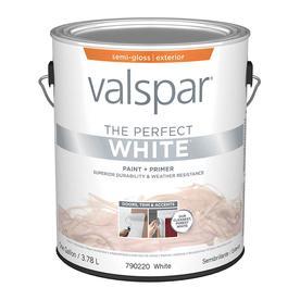 Valspar Perfect White Semi-Gloss Latex Exterior Paint (Ac...
