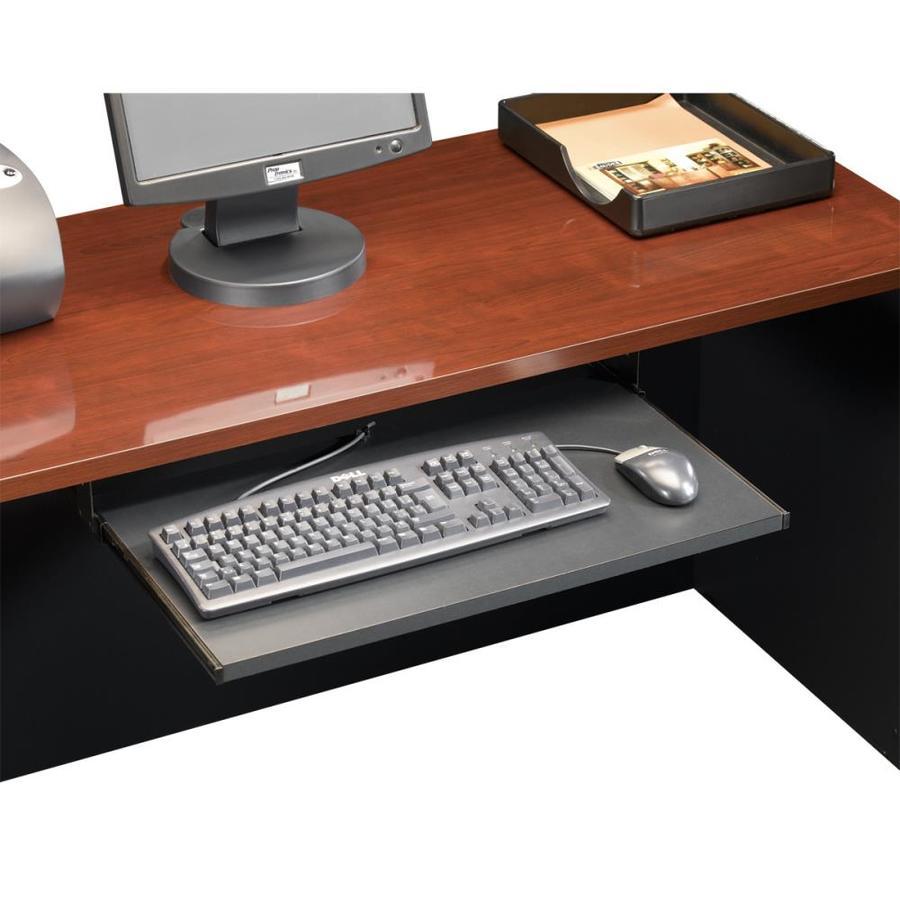 Sauder Via Soft Black Desk Keyboard Tray On Popscreen