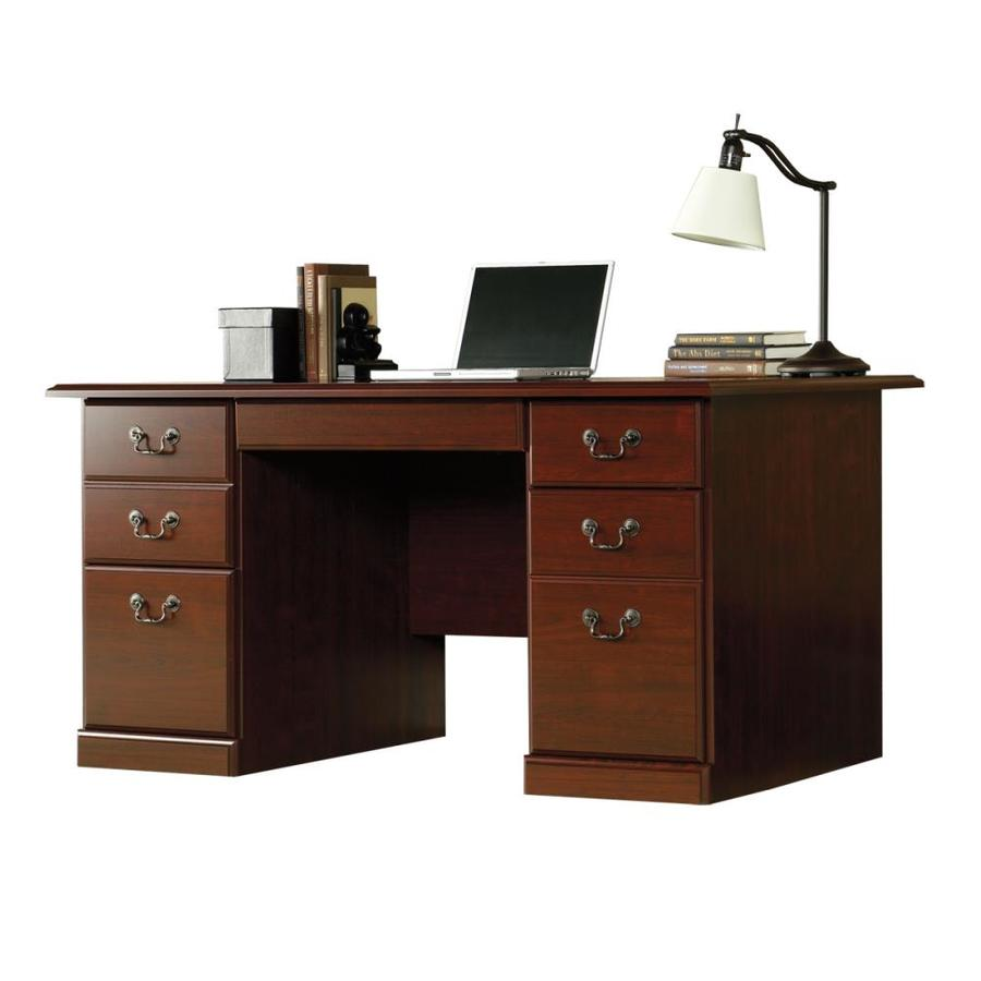 Shop Sauder Heritage Hill Classic Cherry Computer Desk At