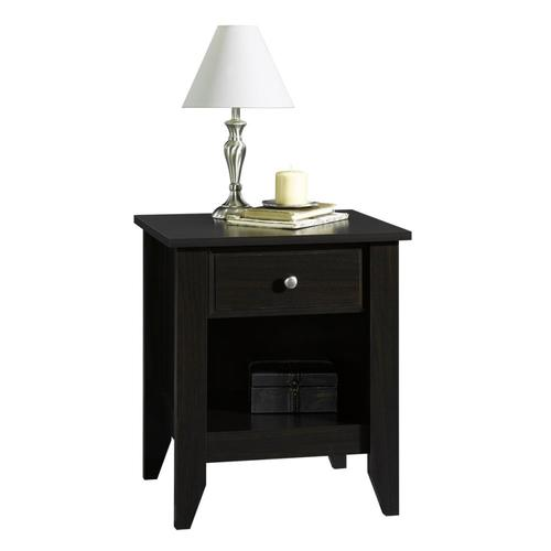 Cheap Sauder White& Jamocha Wood Nightstand from Lowes Nightstands Bedroom Furniture