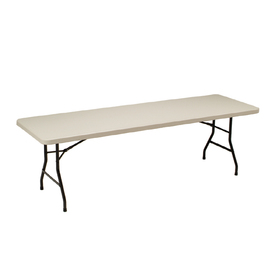 Style Selections 96 In X 30 In Rectangle Steel Mocha Folding Table