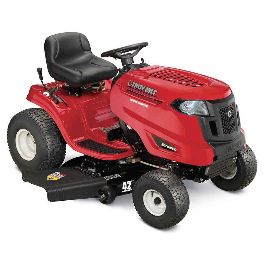 Shop Troy Bilt Bronco Automatic 42 In Riding Lawn Mower