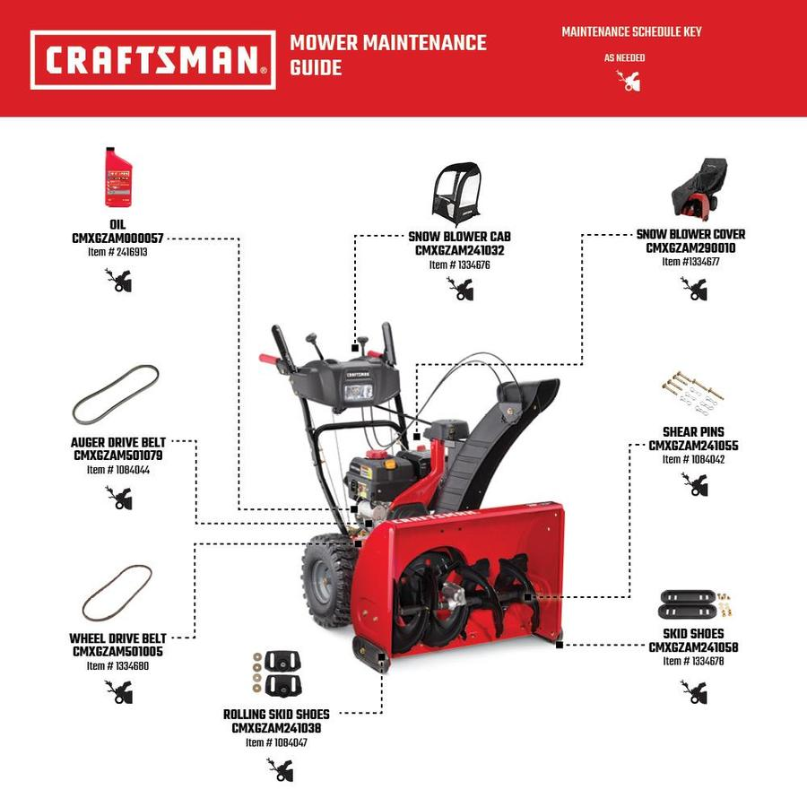 Craftsman Sb470 28 In 243 Cc Two Stage Self Propelled Gas Snow Blower With Push Button Electric Start Headlight S Heated Handles In The Gas Snow Blowers Department At Lowes Com