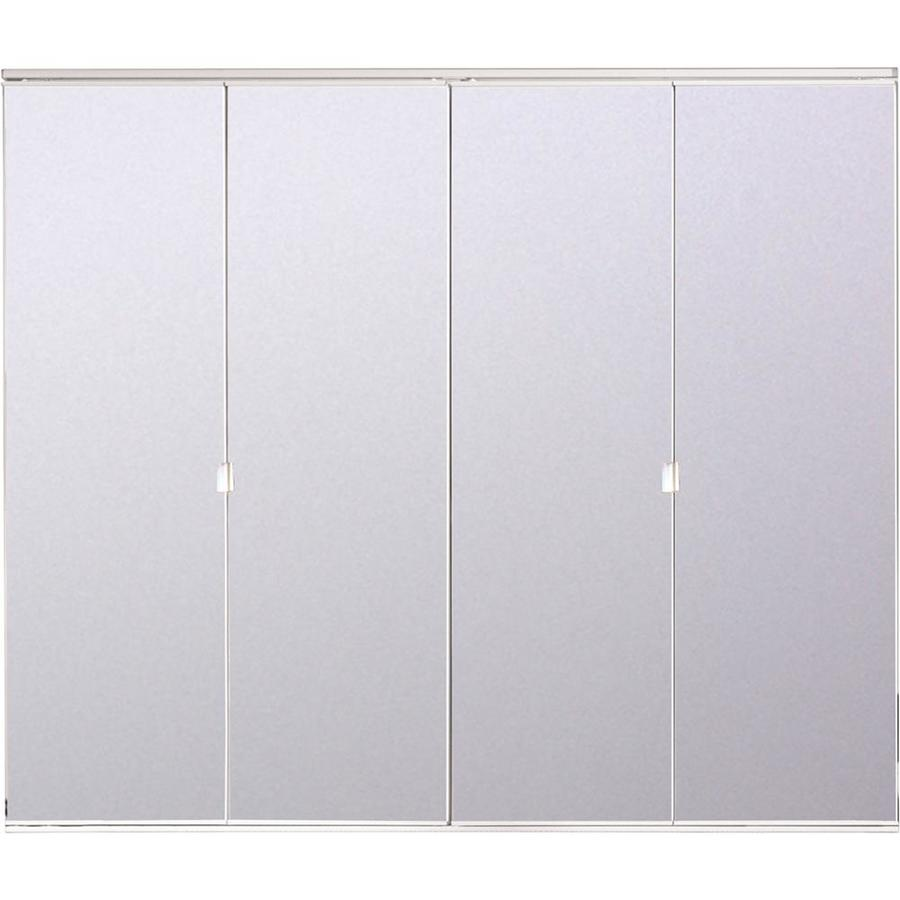Bifold Door Bifold Mirrored Closet Doors Lowes