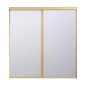 Lowes Stanley Champagne Gold Mirror Sliding Closet Door