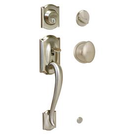 Lowes Schlage Nickel Amp Bronze Front Door Entrance