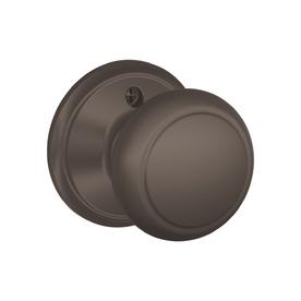 Schlage Lock Single-Knob Dummy Trim Oil-Rubbed Bronze - Schlage F170-AND-613-(SH)