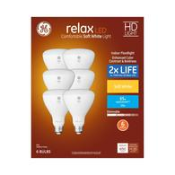 6-Pack GE 65W Equiv Dimmable Warm White or Day Light LED Bulbs