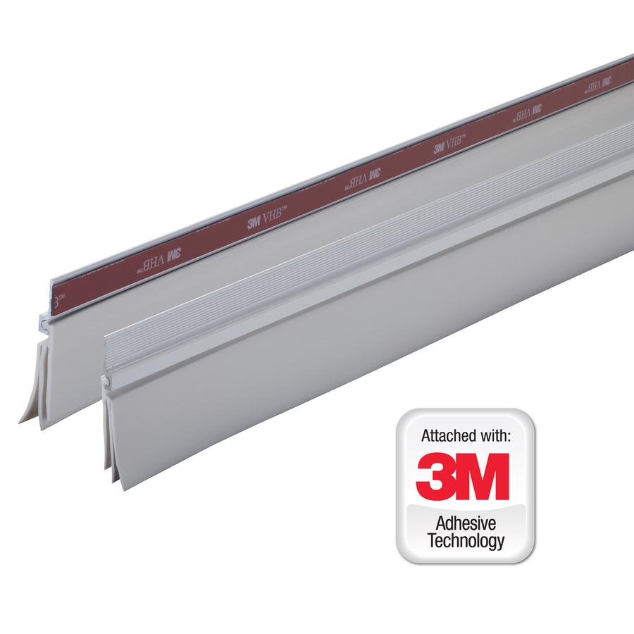 Shop M D Building Products 0 25 In X 3 Ft White Aluminum