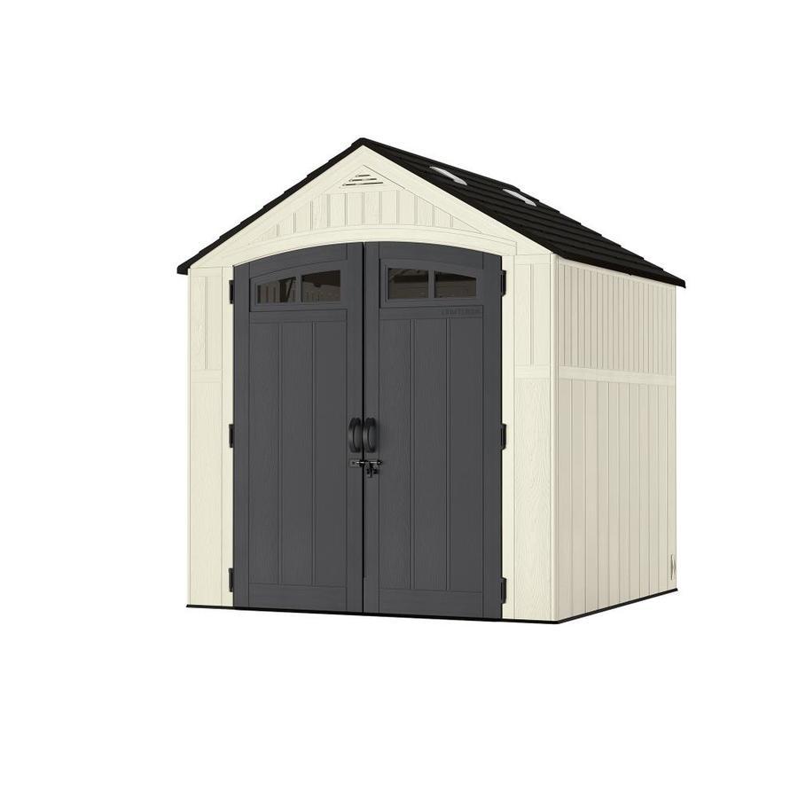 7-ft x 7-ft  Resin Storage Shed Gable Storage Shed | - CRAFTSMAN CMXRSSC7751