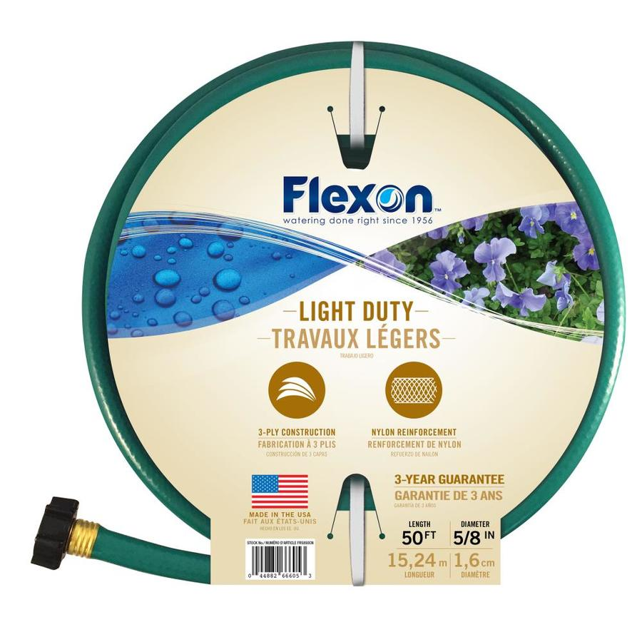 FLEXON 5/8 in x 50 ft Light Duty Garden Hose
