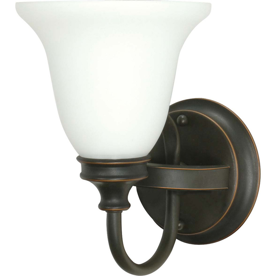 Rustic Bathroom Lighting Lowes: Shop Bistro Rustic Bronze Bathroom Vanity Light At Lowes.com