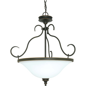 Rockport Milano 19-In Rustic Bronze Single Bell Pendant L...