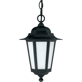 NUVO 16.79-In W Textured Black Outdoor Flush-Mount Light ...