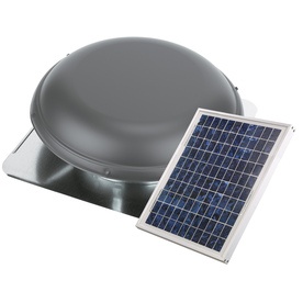 Shop Air Vent 1000 Cfm Weatherwood Galvanized Steel Solar Power Roof Vent At Lowes Com
