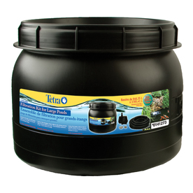New tetra bio filtration kit large ponds 550 gph pump for Koi pond kits lowes