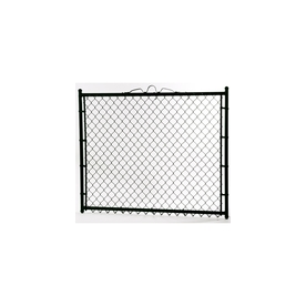 Shop Black Galvanized Steel Chain Link Walk Gate Fits