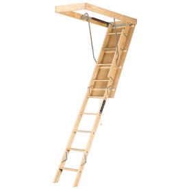 Louisville Premium 8-Ft To 10-Ft Type I Wood Attic Ladder...