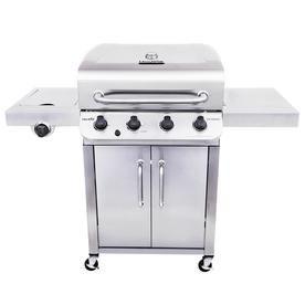 Char-Broil Performance Stainless 4-Burner Liquid Propane Gas Grill With 1 Side Burner 463342119