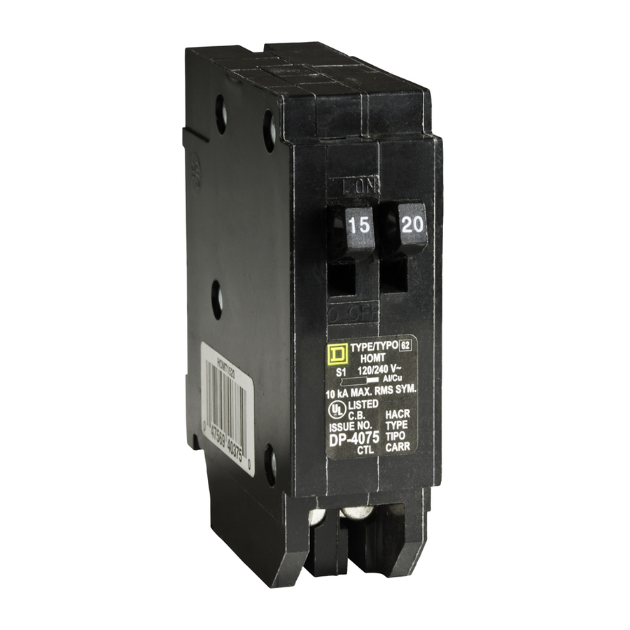 Square D Electrical Breakers Related Keywords Suggestions Shop Homeline 40amp 2pole Circuit Breaker At Lowescom 20 Amp Tandem