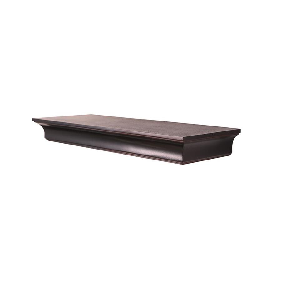 Shop Allen Roth 7 88 In Wood Wall Mounted Shelving At