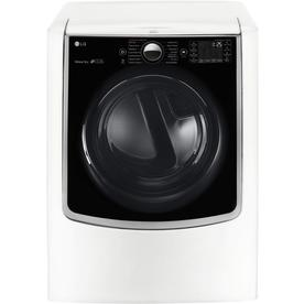 LG 9-Cu Ft Electric Dryer (White) Dlex9000w